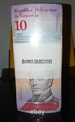 1 Brick 10bss 1,000 Banknotes Bolivares Soberanos Unc Venezuela