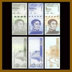 100 Lots x Venezuela 20,000 50,000 & 1 Million Bolivares (3 Pcs Set), 2020/2021