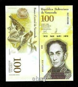 100 Million Venezuela 100000 100,000 Bolivares x 1000 Pc VEF Lot Bundle UNC 2017