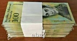 100 Million Venezuela 100000 (100,000) Bolivares x 1000 Pcs Bundle Brick USED VE