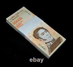 100 pcs x Venezuela 50000 Bolivares banknotes-2019 issue UNCIRCULATED