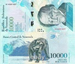 1000 x Venezuela 10,000 (10000) Bolivares, 2016/2017 banknotes / currency brick