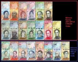 10x Venezuela Full Set 2 100000 Bolivares & 2 500 Soberanos (210 banknotes)