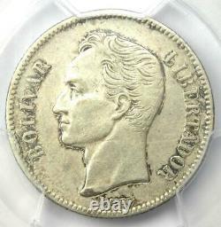 1888 Venezuela Republic 2 Bolivares Coin 2B Certified PCGS XF Details (EF)