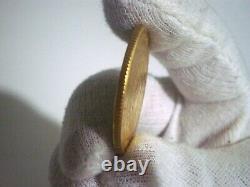 1889 VENEZUELA SIMON BOLIVAR $100 BOLIVARES (PACHANO) PESOS GOLD COIN 32 Grs