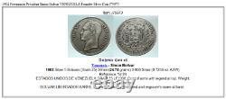 1902 Freemason President Simon Bolivar VENEZUELA Founder Silver Coin i75973
