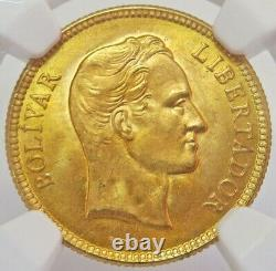 1930 Gold Venezuela 10 Bolivares Simon Bolivar Coin Ngc Mint State 66
