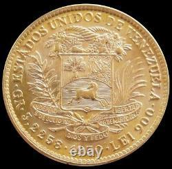 1930 Gold Venezuela 3.225 Grams 10 Bolivares Simon Bolivar Coin Unc+