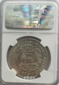 1935 MS 63 5 Bolivares -FUERTE-Gram 25 Venezuela Silver coin Graded NGC