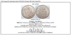 1936 Freemason President Simon Bolivar VENEZUELA Founder 5BLV Silver Coin i87688