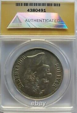 1936 MS 62 5 Bolivares -FUERTE-Gram 25 Venezuela Silver coin Graded Anacs