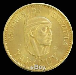 1955 Gold Venezuela Caciques Yaracuy 60 Bolivares Coin 22.2 Gram