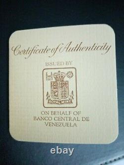 1975 Bolivares Royal Mint Jaguar Armadillo Conservation 2oz Silver Coin Set