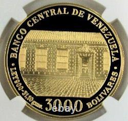 1983 Gold Venezuela 31.1 Gram 3000 Bolivares Simon Bolivar Ngc Pf 69 Ultra Cameo