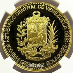 1990 Gold Venezuela Proof 5000 Bolivares Jose Antonio Paez Coin Ngc Pf 69 Uc