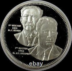1991 Silver Venezuela Luz 1300 Bolivares Zulia University Proof Coin In Capsule