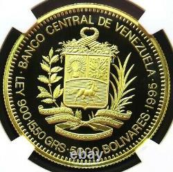 1995 Gold Venezuela 5000 Bolivares Sucre Bicentennial Ngc Proof 69 Uc