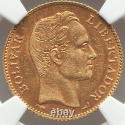 20 Bolivares Gold Venezuela 1905 NGC AU-55 Low Mintage