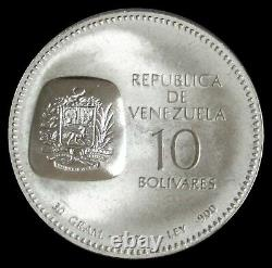 20 Coin Roll 1973 Silver Venezuela 10 Bolivares Simon Bolivar Mint State Coins