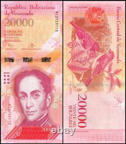 200 Venezuela Banknotes 100 X 10000 / 100 X 20000 BOLIVARES aUnc currency