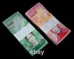 200 Venezuela Banknotes100 x 5000 & 20000 Bolivares, 2017 issue / aUNC