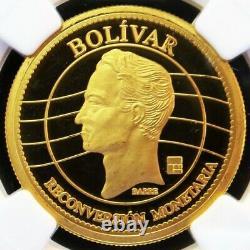 2008 Gold Venezuela Bolivar Simon Bolivar Monetary Coin Ngc Proof 69 Ultra Cam