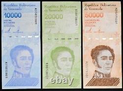2019 Venezuela $10,000 $20,000 $50,000 Bolivares UNC 3 Bricks 3,000 Pcs SKU4182