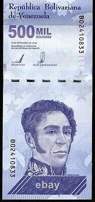 2020 Venezuela $500,000 Bolivares Set of 10 New Unc Notes Just Released 10 Pcs