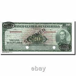 #213813 Banknote, Venezuela, 20 Bolivares, 1960-1966, Specimen TDLR, KM43s3