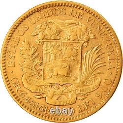 #218311 Münze, Venezuela, Gr 6.4516, 20 Bolivares, 1880, SS, Gold, KM32