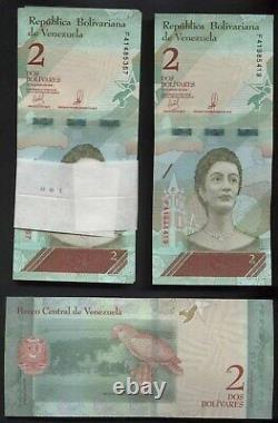 #23040, a, b 10 BUNDLES / 1 BRICK = 1,000 BANKNOTES VENEZUELA, 2 Bolivares So