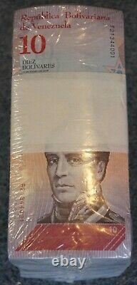 #23042, a, b 10 BUNDLES / 1 BRICK = 1,000 BANKNOTES VENEZUELA, 10 Bolivares S