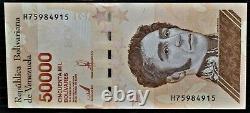 3 Bundles (300 Pcs) 10000,20000 & 50000 Bolivares Serial Big 2019 Venezuela Unc
