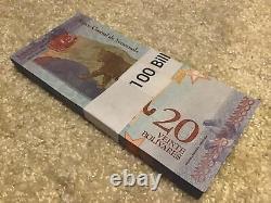 400 Banknotes. 4 X Venezuela Banknote Bundles. 100 X 2,5,10,20 Bolivares. 2018
