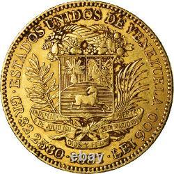 #489600 Moneda, Venezuela, 100 Bolivares, 1887, Caracas, MBC, Oro, KM34