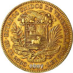 #489601 Moneda, Venezuela, 100 Bolivares, 1887, Caracas, MBC, Oro, KM34
