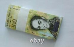 A bundle of Venezuela 100000 Bolivares 2017 P-100b Banknotes UNC First Run(A)
