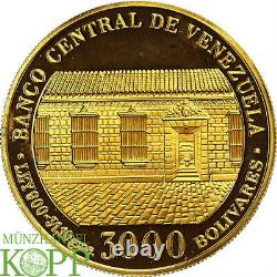 AB2420 Venezuela, Republik 3000 Bolivares 1983 Simon Bolívar's Geburtshaus 1 Oz