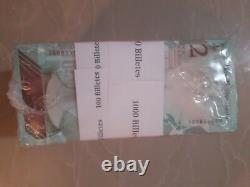 Brick 1,000 Banknote 2 Bolivares Soberanos Venezuela Unc MIL Billetes Sellados