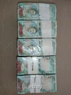 Brick 1000 Banknote 2 Bolivares Soberanos Venezuela Unc MIL Billetes Sellados