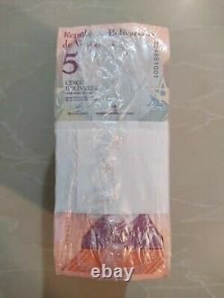 Brick 1000 Banknote 5 Bolivares Soberanos Venezuela Unc MIL Sellados 2018
