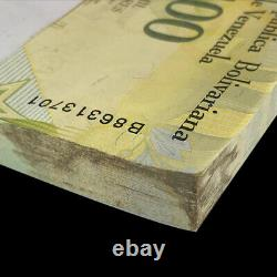Brick 1000 PCS, Venezuela 100000 Bolivares, P-New, Banknotes, Black Stains