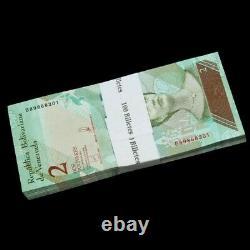 Brick 1000 PCS, Venezuela 2 Bolivares, 2018, P-NEW, 10 bundles, UNC