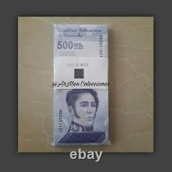 Bundle 100 Banknotes Bolivares sovereign 500,000 five hundred thousand Venezuela