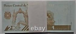 Bundle 100 Pcs Banknote 1'000.000 Bolivares September 03. 2020 Venezuela Unc