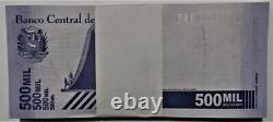 Bundle 100 Pcs Banknote 500.000 Bolivares September 03. 2020 Venezuela Unc
