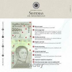 Bundle 100 Pcs New Banknote 200000 Bolivares September 03. 2020 Venezuela Unc