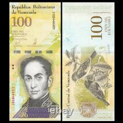 Bundle Lot 100 PCS, Venezuela 100000 100,000 Bolivares, 2017(2018), P-New, UNC