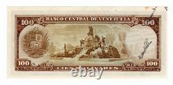Error Venezuela 100 Bolivares Agosto 8 1967 Firma Reverso Parte De Fecha Raro
