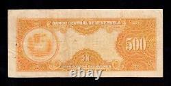 F. C. VENEZUELA, 500 BOLIVARES 1958, B/C+ (FINE+), PUNTOS DE AGUJA, P. 37b